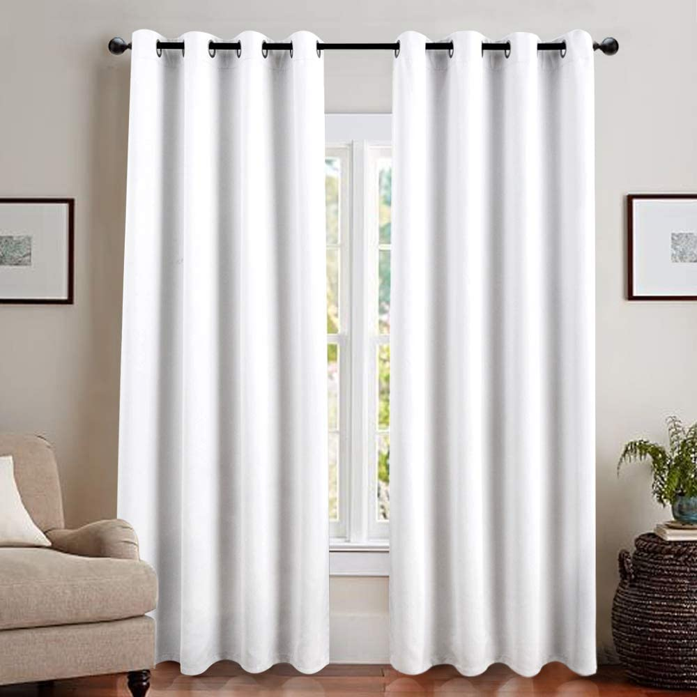Amazon.com: jinchan White Blackout Curtain Liner for Living Room