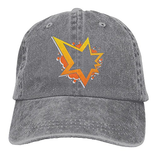 Big Star Adjustable Adult Cowboy Cotton Denim Hat Sunscreen Fishing Outdoors Retro Visor Cap (Big Star Visor)