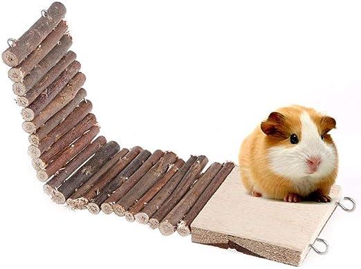 Escalera de Madera Swing Plataforma Soporte Conjuntos de Tres Piezas Juguete para hámster Enano, Ratas pequeño Animal Juguete Jaula: Amazon.es: Productos para mascotas