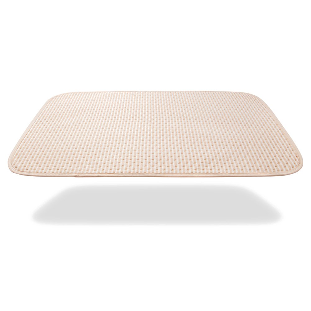 Incontinence Mattress Protector Seniors Waterproof Bed Pad The Aged Elderly Absorbent Underpads Golden Years Bed-Wetting Enuresis Spill Mat Natural Organic Cotton Washable Reusable (Brown, XXXL)