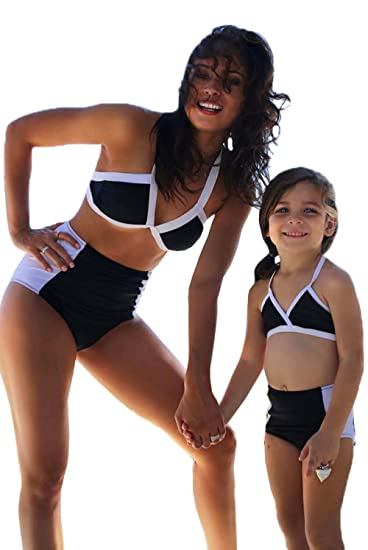 Matching Family Outfits Family Matching Bikini Stripe Bow Women Kids Girls Bikini Set Mommy And Me Swimsuit Beach Family Look Mother Daughter Swimwear