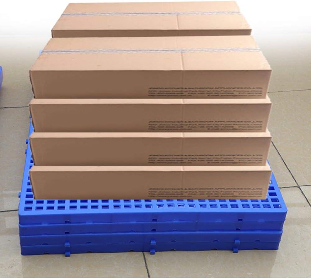 LIANGJUN Plastic Pallets Lightweight Pallet Goods Ventilation Breathable Grid Portable Combined Warehouse Color : Blue-5pack, Size : 100x60x5cm Balcony