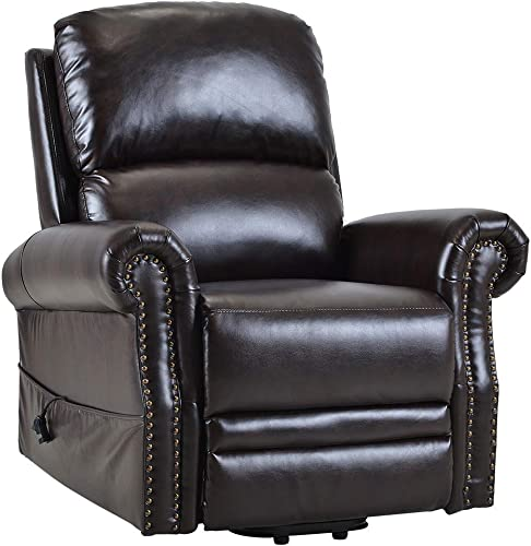 Romatlink Chair Recliner, Lift Chair PU Leather Chair Couch, Single Sofa ,Power Recline Eco-Friendly Soft ,Side Pocket, Sofa Seat, Perfectly Lntegrated Into The Small Space Overstuffed armrest