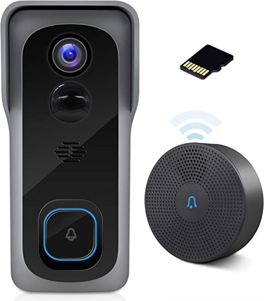 low price sale where can i buy cheap prices WiFi Video Doorbell Camera with Chime, Two-Way Audio, IP65 Waterproof PIR  Motion Detection, Wide Angle, Wireless Door Security Battery Camera, Night  ...