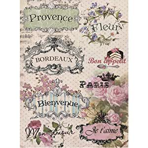 "Amazon.com: Rice paper for decoupage.""French"" (~ 11, 1 x"