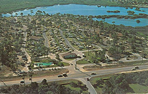 Postcard Birdseye View (Seminole Florida Holiday Campground Birdseye View Vintage Postcard K80380)