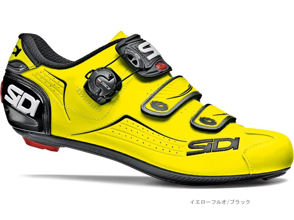 SIDI(シディ) ALBA(アルバ) <イエローフルオ/ブラック> ロードシューズ B076KDD415 42