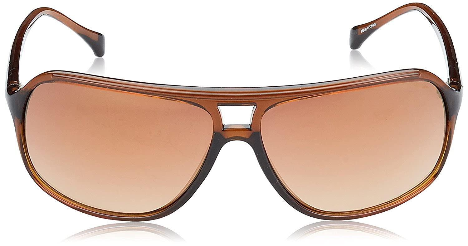 Guess Rectangle Eye Gafas de sol, Marrón (Marrone), 65 para Hombre
