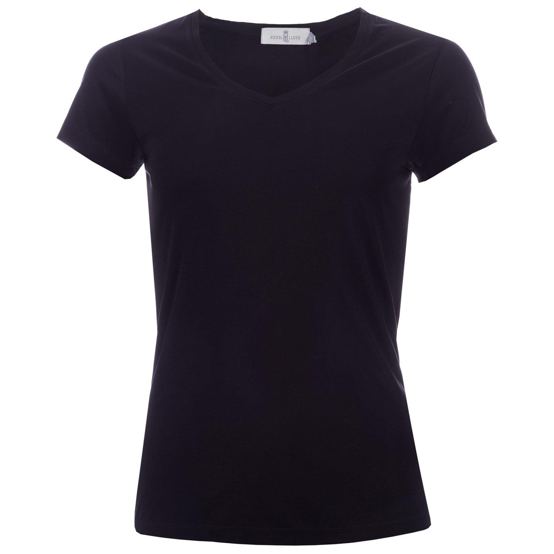 Henri Lloyd Womens Rosa V-Neck T-Shirt in Black