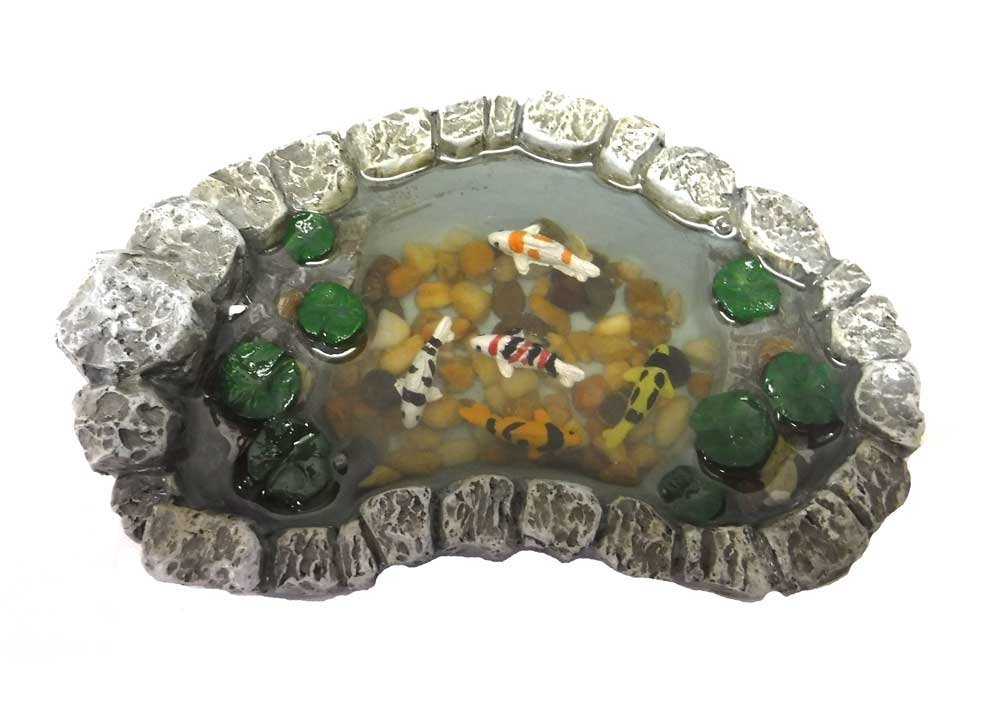 Georgetown Miniature Fairy Garden Koi And Lily Pad Pond Furniture Gnome  Figurine Statue Sculpture For Home Terrarium Yard Patio And Lawn Outdoor  Decor ...