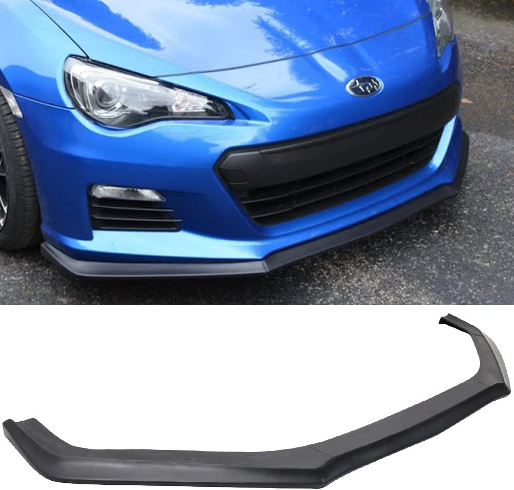 Front Bumper Lip Spoiler Compatible With 2013-2016 Subaru BRZ 2014 2015 CS Style Black PU Front Bumper Lip Spoiler Bodykit Splitter Diffuser Air Dam Chin Diffuser by IKON MOTORSPORTS