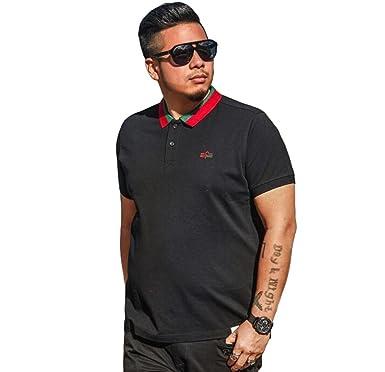 RENHONG Camiseta Negra De Manga Corta De Verano Para Hombre De ...