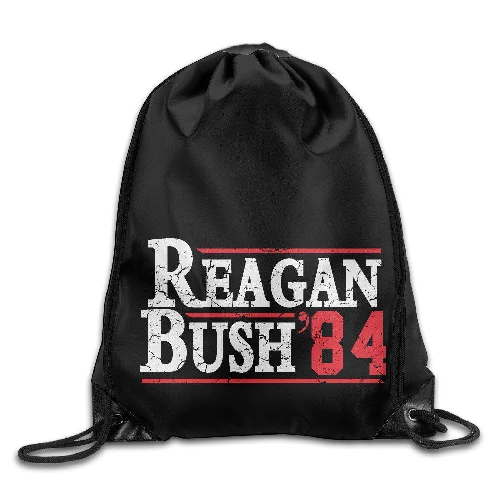Reagan Bush '84 Conservative Republican GOPCool Drawstring Backpack String Bag BiXiShop