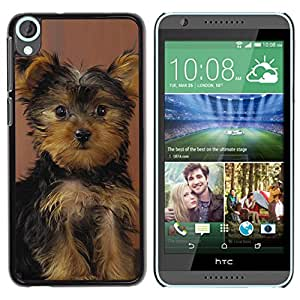 Vortex Accessory Hard Protective Case Skin Cover For Htc Desire 820 - Yorkshire Terrier Puppy Surprised Dog