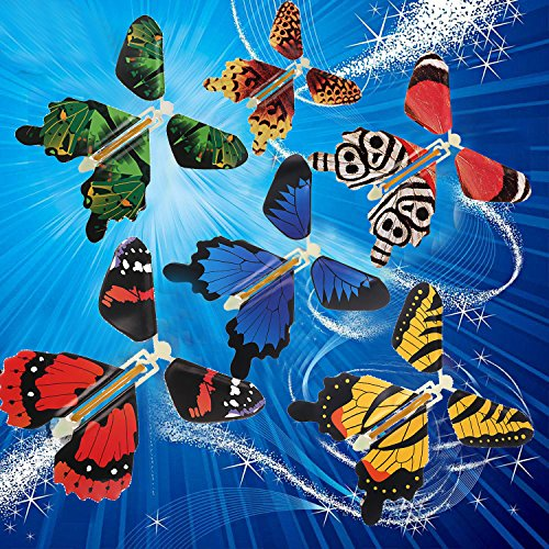 beemean Magic Flying Butterfly Gift Cards - Wind Up Butterfly in The Book Fairy Toy Great Surprise Wedding (8PCS) by beemean (Image #6)