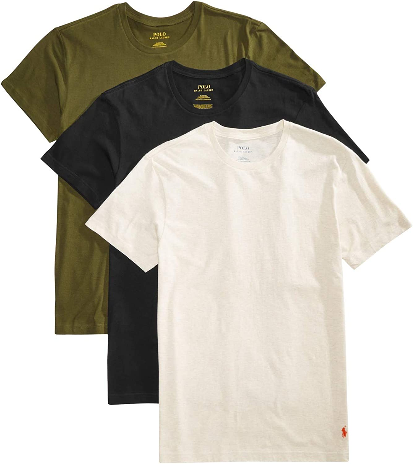 Polo Ralph Lauren Big /& Tall Men/'s Ivory Crew-Neck Short Sleeve T-Shirt