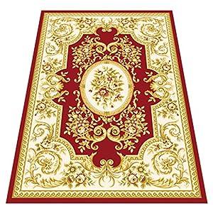 Carpet HUANGDA Living Room Coffee Table Rug Simple Bedroom Full Shop Room Sofa Large Carpet Bedside Blanket Pad Red Machine Washable Suitable for Home Flooring (Color : A, Size : 8016cm)