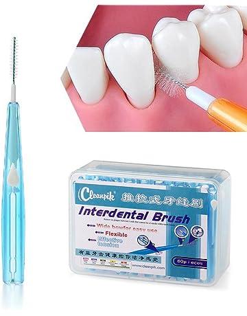 Ruier-hui Cepillos Interdentales Palillo Interdental(60 pcs) Palillos Dentales Palillo de Dientes