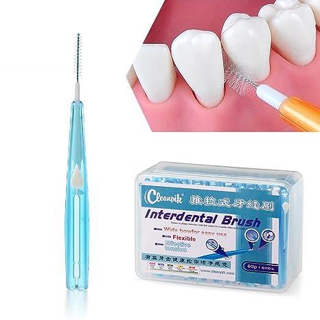 Ruier-hui Cepillos Interdentales Palillo Interdental(60 pcs) Palillos Dentales Palillo de Dientes Cepillo Dental Limpiardor de Dientas Hilo ...