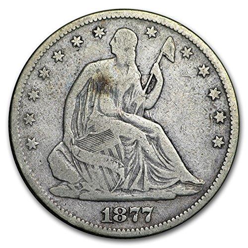 1877 Liberty Seated Half Dollar VG Half Dollar Very Good