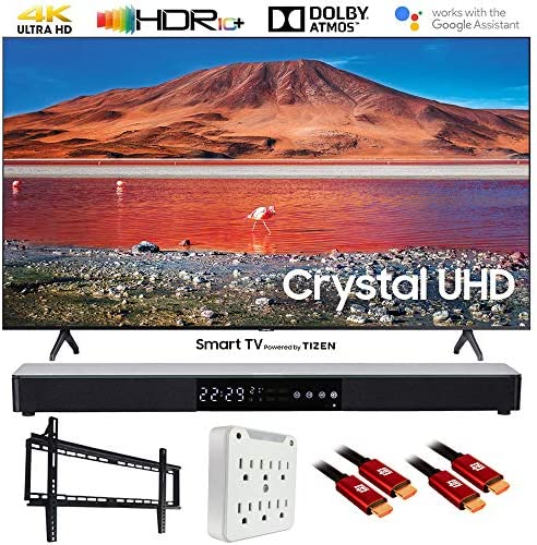 "SAMSUNG UN65TU7000 65"" 4K Ultra HD Smart LED TV (2020) with Deco Gear Soundbar Bundle"