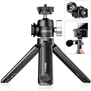 U-60 Ball Head Mount with MT-14 Tripod Detachable Desktop Stand Tripod Setup for Sony/Canon/Nikon Camera DSLR Smartphone Clamp Vlog Video Shooting Accessories, Rotatable Cold Shoe Mic/Light Extension