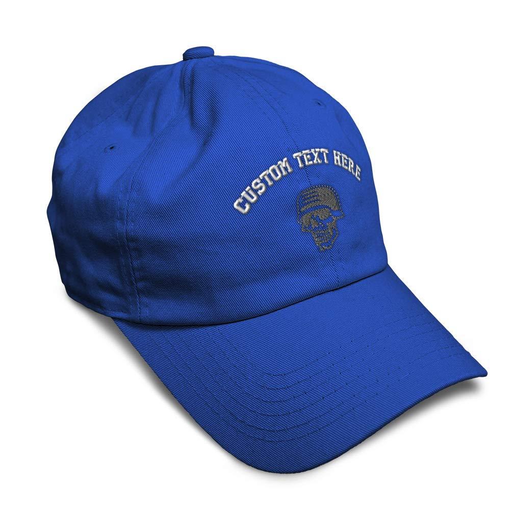Custom Soft Baseball Cap Army Helmet Skull B Embroidery Dad Hats for Men /& Women