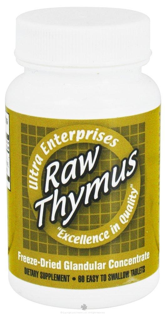 Ultra Glandulars Ultra Raw Thymus 200Mg 60 Tab