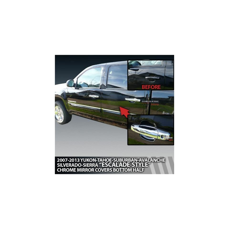 2007 2013 GMC Sierra & HD 4 door Crew Cab, Extended Cab Chrome Door Handle Covers