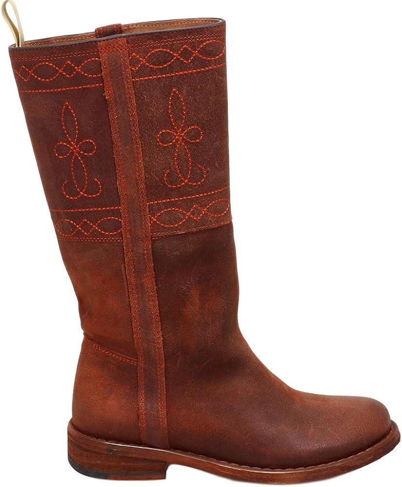 Felmini - Zapatos para Mujer - Enamorarse com GREDO C198 - Botas Altas com Cordones - Cuero Genuino