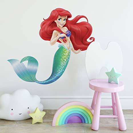 Perfect RoomMates RMK2360GM The Little Mermaid Peel And Stick Giant Wall Decals,  1 Pack
