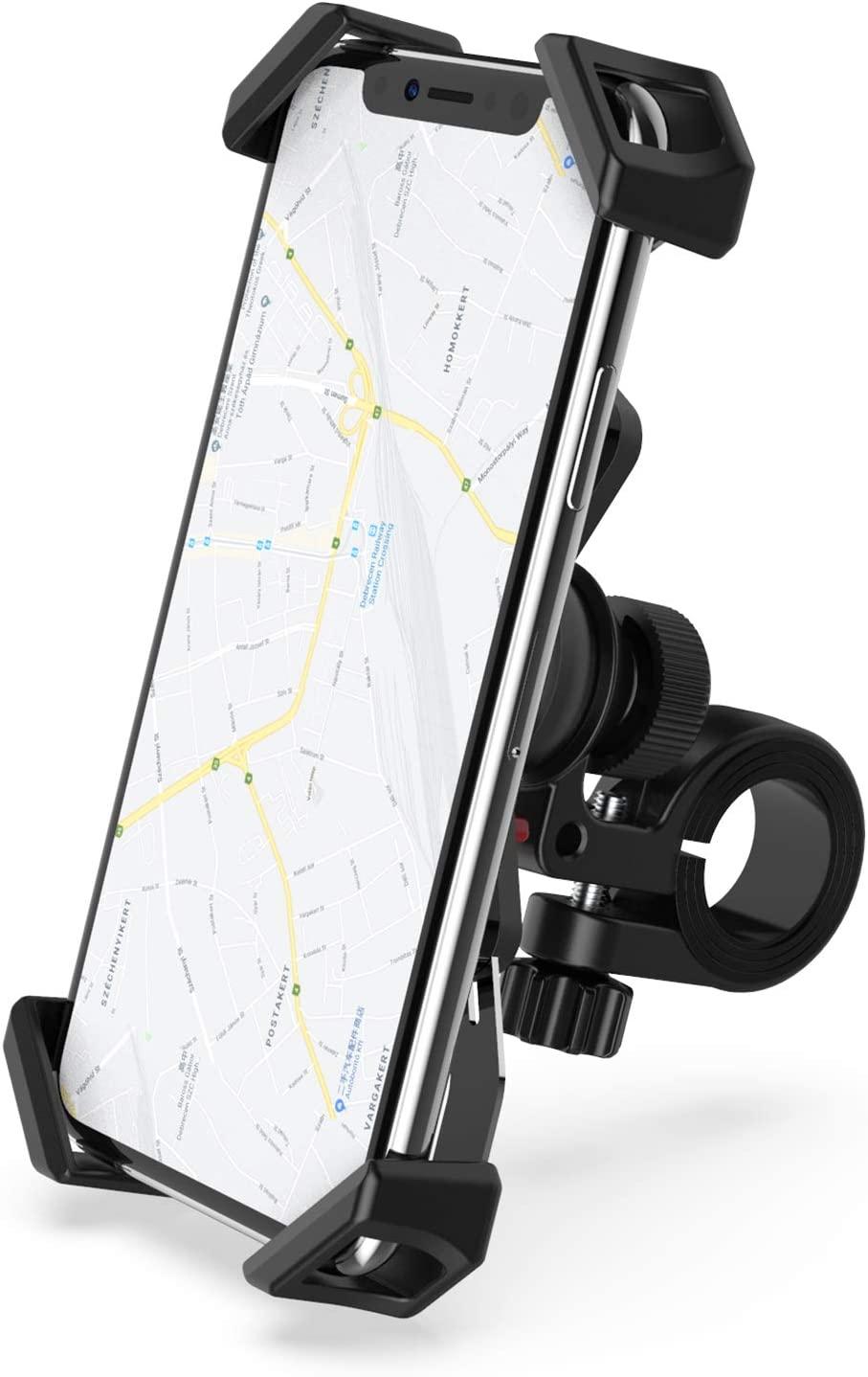 RYYMX Bicycle Phone Holder : 360/° Rotation Adjustable Motorcycle Phone Mount for iPhone Xs Max XR X 8 7 6 Plus Note 10 9 8 Bike Phone Mount Samsung S10+ S9 S8 4-7 inches Android Cell Phones GPS