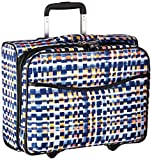 Vera Bradley Iconic Rolling Work Bag, Microfiber, Abstract Blocks