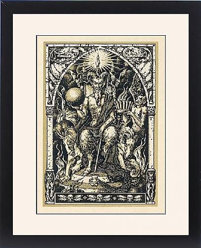 Framed Print Of Satan At The Sabbat by Prints Prints Prints
