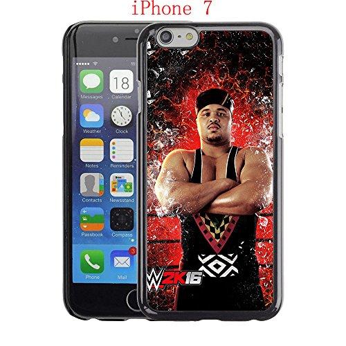 (iPhone 7 Case,D'Lo Brown Hard Protective Plastic PC Black Case 4.7