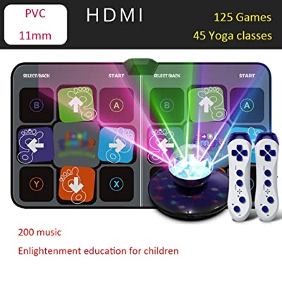 Dance mat Quality 2020 Lose Weight Home Television Computer Dual-use for Kids and Adults 125 Running Game HD Dance Machine 200 Music -2020 (Color : Gray, Size : 11mm): Home & Kitchen