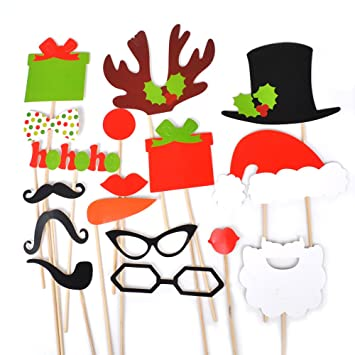 Photo Booth Weihnachten.Weihnachten Party Mitbringsel Verkleidung Partymitbring Schnurrbart Lippen Brille Photo Booth Props Zubehoer Giftbox Christmas