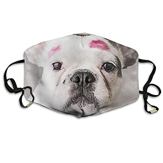 Amazon.com  N7bloom Unisex Face Mask Anti-Dust Respirator Gift French  Bulldog Kiss Marks  Clothing 6b40984277c38