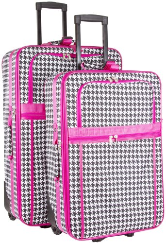 Houndstooth 2-Piece Luggage Set by Unknown