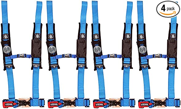 Harness Blue 4 Point Yamaha Rhino Arctic Cat Maverick Canam Commander Side By X