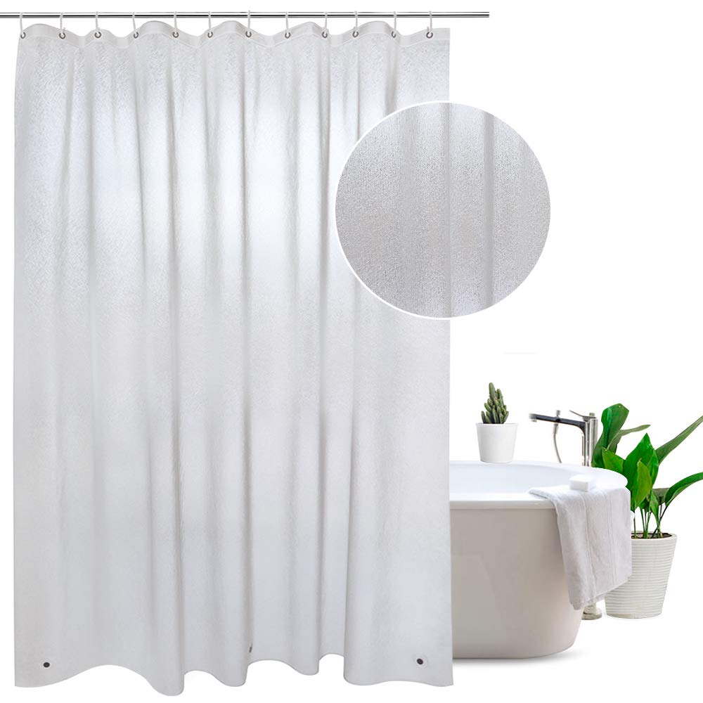 EurCross Shower Curtains, EVA Shower Curtains with Crystal Stone, Waterproof and Mildew Resistant Semi-Transparent Bathroom Curtain,36''W x 72''L(90 x 180cm) … 36''W x 72''L(90 x 180cm) ...