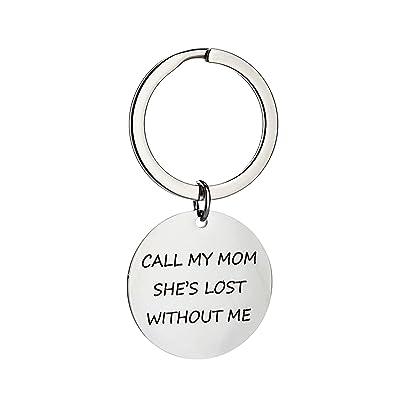 AmDxD Acero Inoxidable Llaveros Mujer y Hombre Call MY MOM ...