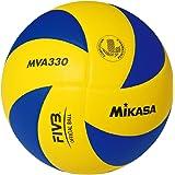 Mikasa Mva-330 Pallone Pallavolo, Blu/Giallo, 5