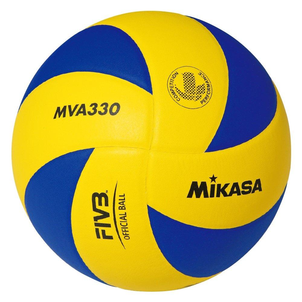 Mikasa MVA-330 - Balón de voleibol, color azul/amarillo, talla 5 1168