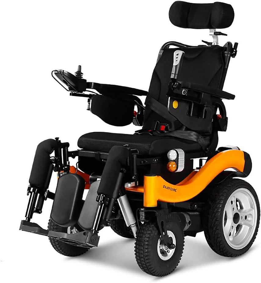 CHARON Vespa Plegable Inteligente, Aleación De Aluminio Silla De Ruedas Eléctrica, Freno Electromagnético Adecuado para Los Ancianos/Discapacitados