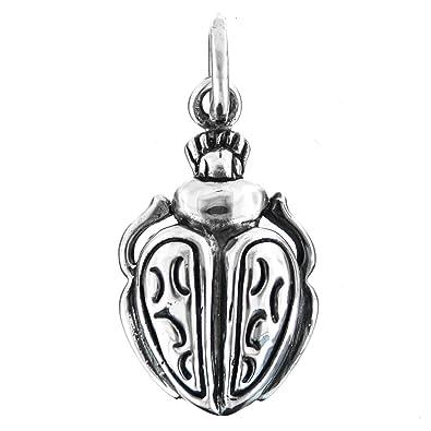 Amazon egyptian mythology 925 sterling silver scarab beetle egyptian mythology 925 sterling silver scarab beetle pendant aloadofball Gallery