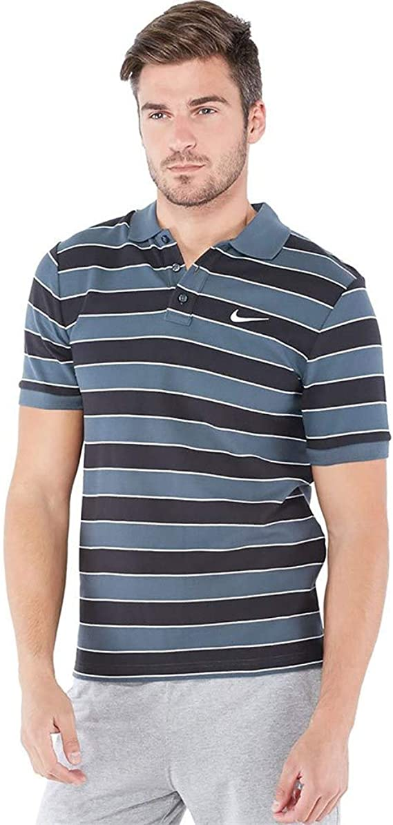 Nike para Hombre Polo de Manga Corta diseño a Rayas T-Camiseta de ...