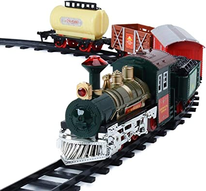 Toy Battery Train Track Set Of 55 Pieces Building Block Toy Set With Sounds