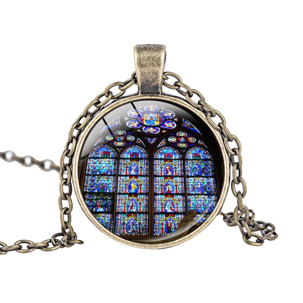 Joopee Fashion Miniature Notre Dame de Paris Chains Pendant Necklace Jewelry Gift for Girlfriend Ladies Girls Women