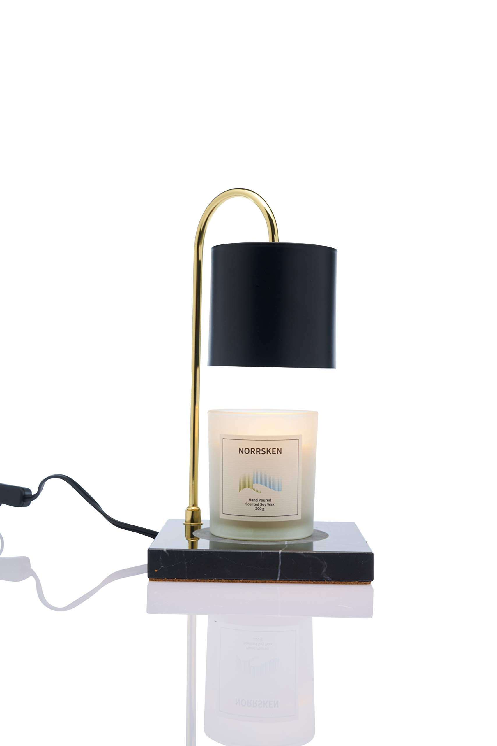 Vana Candles Candle Warmer Ljusvärmare Svart Marmor Modern Lamp Swedish Design - Black Marble Brushed Metal